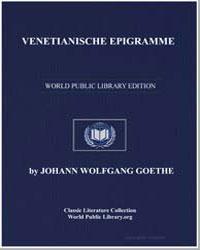 Venetianische Epigramme by Von Goethe, Johann Wolfgang