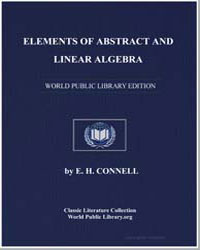 Elements of Abstract and Linear Algebra by Connell, E. H.