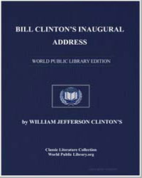 Bill Clinton's Inaugural Address by Clinton, William Jefferson