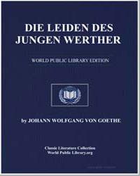 Die Leiden des Jungen Werther by Von Goethe, Johann Wolfgang