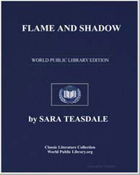 Flame and Shadow by Teasdale, Sara