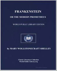 Frankenstein or the Modern Prometheus by Shelley, Mary Wollstonecraft