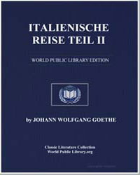 Italienische Reise Teil Ii by Von Goethe, Johann Wolfgang