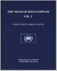 The Messiah Seed Sampler Story Water by