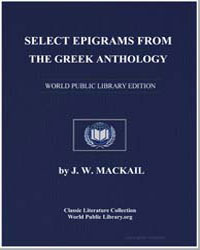 Select Epigrams from the Greek Anthology by Mackail, John William