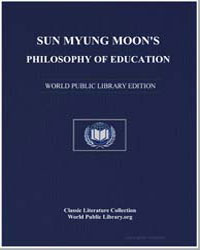 Sun Myung Moon's Philosophy of Education by