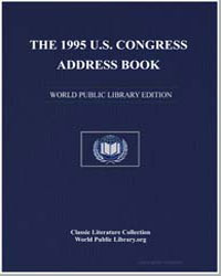 The 1995 U.S. Congress Address Book by