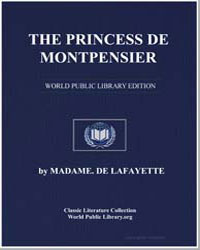 The Princess de Montpensier by De Lafayette, Madame