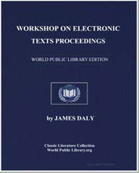Workshop on Electronic Texts Proceedings by Daly, James