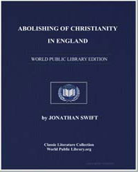 Abolishing of Christianity in England by Swift, Jonathan