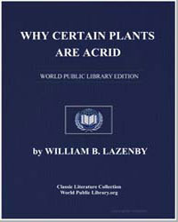 Why Certain Plants Are Acrid by Lazen, William B., Professor