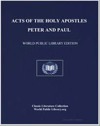 Acts of the Holy Apostles Peter and Paul by Various