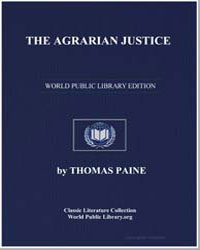 The Agrarian Justice by Paine, Thomas