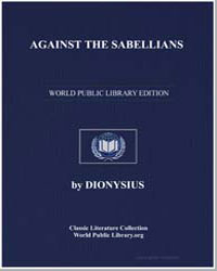 Against the Sabellians by Dionysius