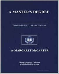 A Master's Degree by Mccarter, Margaret