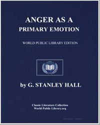 Anger as a Primary Emotion, And the Appl... by Hall, G. Stanley