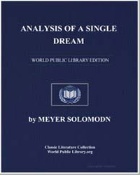 Analysis of a Single Dream as a Means of... by Solomon, Meyer, M. D.