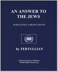 An Answer to the Jews by Tertullian