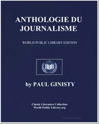 Anthologie du Journalisme by Ginisty, Paul
