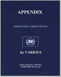 Appendix by Various