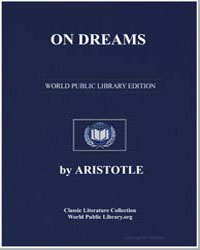 On Dreams by Aristotle