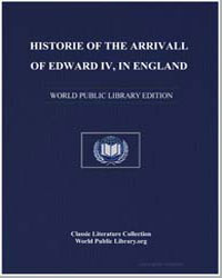 Historie of the Arrivall of Edward Iv, I... by