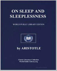 On Sleep and Sleeplessness by Aristotle