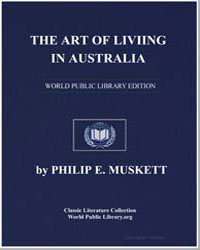 The Art of Living in Australia by Muskett, Philip E.