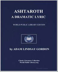 Ashtaroth : A Dramatic Lyric by Gordon, Adam Lindsay
