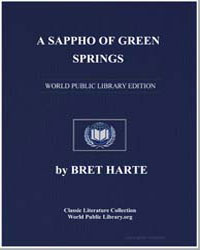A Sappho of Green Springs by Harte, Brett