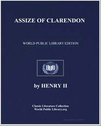 Assize of Clarendon by Henry, King, Ii