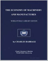 The Economy of Machinery and Manufacture... by Babbage, Charles