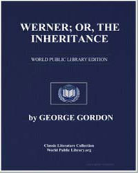 Werner; Or, The Inheritance : A Tragedy by Byron, Lord
