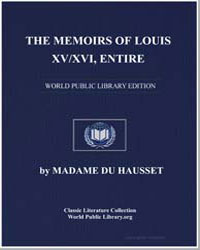 The Memoirs of Louis XV/Xvi by Hausset, Madame Du