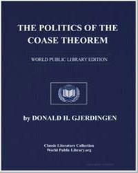 The Politics of the Coase Theorem and It... by Gjerdingen, Donald H.