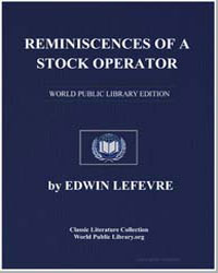 Reminiscences of a Stock Operator by Lefevre, Edwin