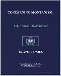 Concerning Montanism by Rhodius, Apollonius