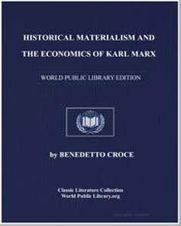 Historical Materialism and the Economics... by Croce, Benedetto