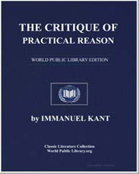 The Critique of Practical Reason by Kant, Immanuel