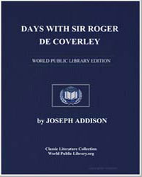Days with Sir Roger de Coverley by Addison, Joseph
