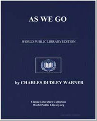 As We Go by Warner, Charles Dudley