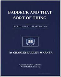 Baddeck and That Sort of Thing by Warner, Charles Dudley