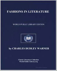 Fashions in Literature by Warner, Charles Dudley