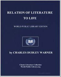 Relation of Literature to Life by Warner, Charles Dudley