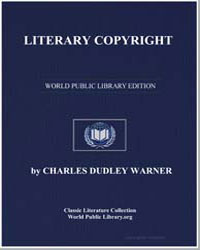 Literary Copyright by Warner, Charles Dudley