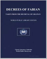 Decrees of Fabian by Taken Decretal of Gratian