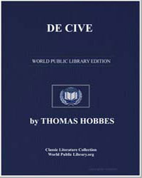 De Cive by Hobbes, Thomas