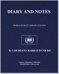 Diary and Notes by Cocke, Louisiana Barraud