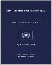 What Did Miss Darrington See by Cobb, Emma B.