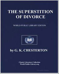 The Superstition of Divorce by Chesterton, Gilbert K.